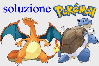 soluzione Pokemon Rosso Blu